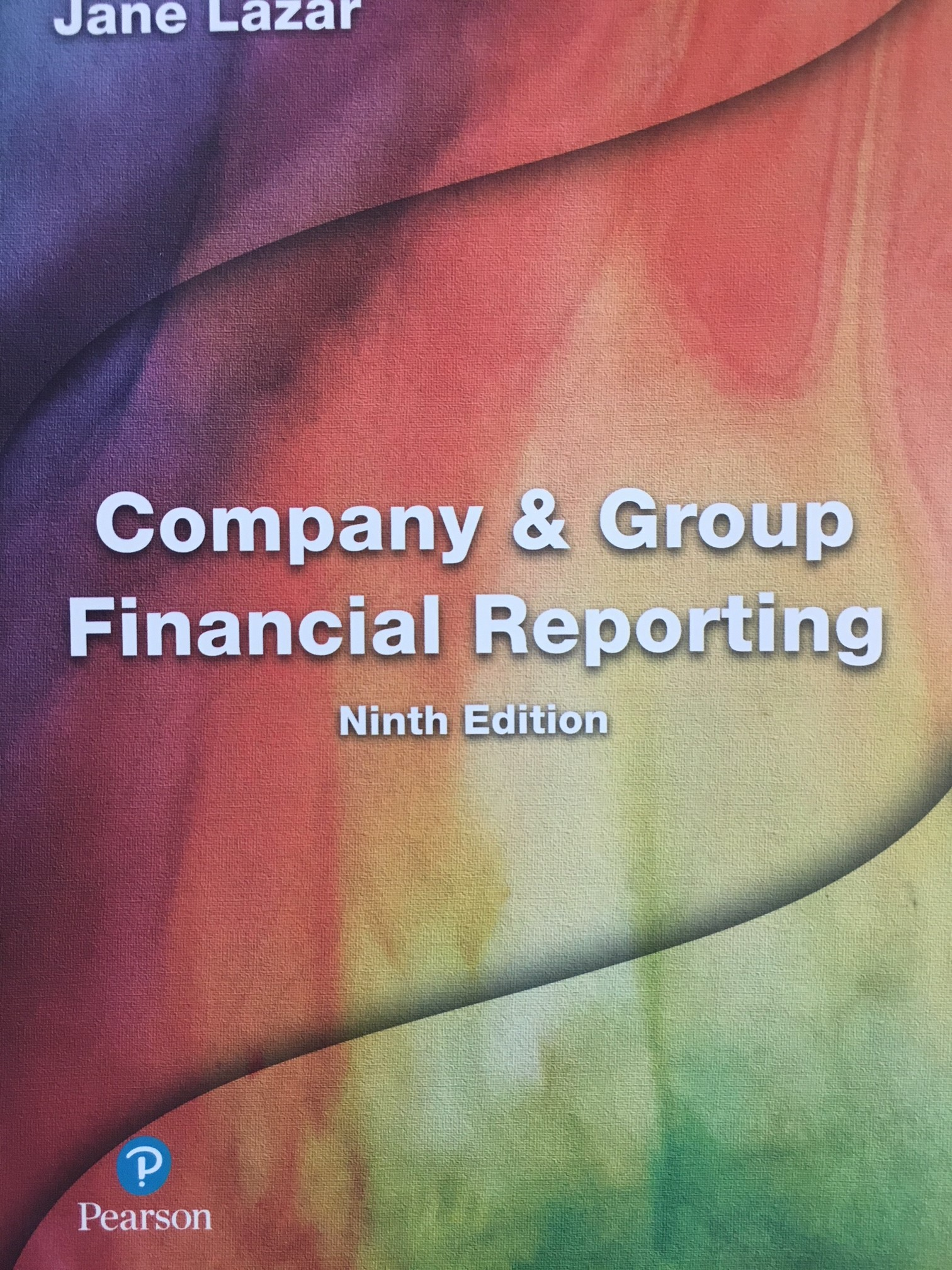 company and group financial reporting 9th edition jane lazar answer